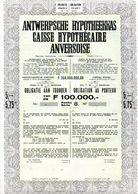 ANTWERPSCHE HYPOTHEEKKAS - CAISSE HYPOTHÉCAIRE ANVERSOISE - Bank En Verzekering