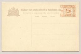 Nederlands Indië - 1929 - 5+5 Cent Op 7,5+7,5 Cent Cijfer, Briefkaart G45, Ongebruikt  - H&G 46 - Nederlands-Indië