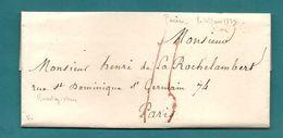 Dispersion D'une Collection De Paris. Pour HENRI DE LA ROCHELAMBERT. Voir Descriptif - Marcophilie (Lettres)