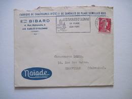 1957 Ets BIBARD Fabrique De Chaussures D'été Les Sables D'Olonne - Marcophilie (Lettres)