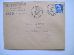 1955 R. PERRIER LISIEUX - Marcophilie (Lettres)