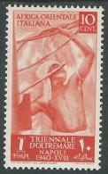 1940 AFRICA ORIENTALE ITALIANA TRIENNALE OLTREMARE 10 CENT MH * - I41-9 - Africa Oriental Italiana