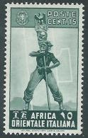 1938 AFRICA ORIENTALE ITALIANA SOGGETTI VARI 15 CENT MH * - I41-7 - Africa Oriental Italiana