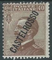 1924 CASTELROSSO EFFIGIE 40 CENT MH * - I38-10 - Castelrosso