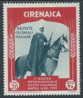 1934 CIRENAICA MOSTRA ARTE COLONIALE 20 CENT MH * - I43 - Cirenaica