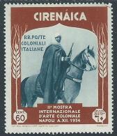 1934 CIRENAICA MOSTRA ARTE COLONIALE 60 CENT MH * - I43-3 - Cirenaica