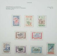 O) 1953  GUATEMALA,SPECIMEN TYPE 3. - ARCHEOLOGY ZAKULEU RUINS,REGIONAL DANCE AP44 1 C, - BICYCLE RACING 65 C. - CHAMPIO - Guatemala