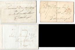 AR61) GREAT BRITAIN - Lot Of 7 Postal History Of Edinburgh - Prestamps - ...-1840 Precursori