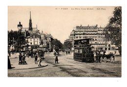 75 - PARIS . LA PLACE SAINT-MICHEL - Réf. N°7939 - - Squares
