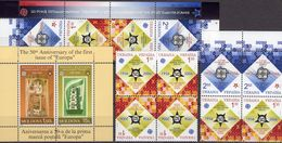 EUROPA Moldawia Block 33,Ukraina 766/7 ZD,VB,KD+Bl.54 ** 40€ Ss Blocs Stamps On Stamp Sheets M/s 50 Jahre CEPT 2006 - Stamps