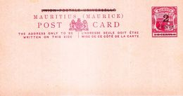 ILE MAURICE (MAURITIUS) POST CARD MAURITIUS De 2 Cents - RARE (scan Recto:verso) - Mauritius (1968-...)