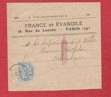 Bande Pour Journal  -  France Et Evangile - Newspapers