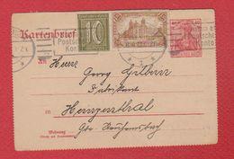 Allemagne - Kartenbrief  -  Pour Hernzenthal - Germany