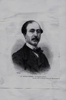 Lucien Anatole PREVOST PARADOL (1829-1870) De L'Académie Française, D'après Le Dessin De Breton - Estampes & Gravures