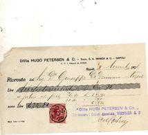 1928  NAPOLI RICEVUTA CON MARCA DA BOLLO - Assegni & Assegni Di Viaggio