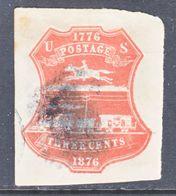 U.S. U  218  Single Line  (o)   1876  Issue - Postal Stationery