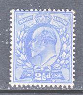 GREAT  BRITIAN  131  PERF 14    *  1902-11  Issue - 1902-1951 (Kings)
