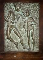 Scultura In Basso A Rilievo Fusione Del Bronzo E Argento (Maurilio Colombini - Piombino - Italia -1980) - Bronzes