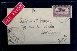 MARRUECOS FRANCÉS , CORREO AÉREO , YV. 6 - FEZ / BURDEOS , LLEGADA AL DORSO , CORREO MILITAR - Maroc (1891-1956)