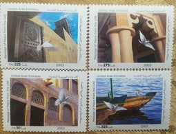 O) 2003 UNITED ARAB EMIRATES, PEACE-DOVE-ZAKHARAFS-DOOR AND WIND TOWER - COLUMNS-WATER TAXI. SCOTT A223, MNH - Verenigde Arabische Emiraten