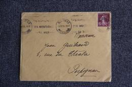 Lettre De PERPIGNAN Vers PERPIGNAN - SEMEUSE CAMEE 15 C BRUN VIOLET - Marcophilie (Lettres)