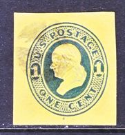 U.S. U  111   ORANGE    (o)   1874-86  Issue - Postal Stationery