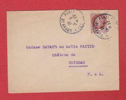 Enveloppe De Paris  -  Pour Brissac  - 8/1/1943 - 1921-1960: Modern Tijdperk