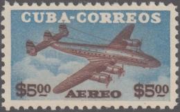 1953-217 CUBA REPUBLICA. 1953. Ed.560. 5 PESOS CONSTELLATION AVION MNH. - Cuba