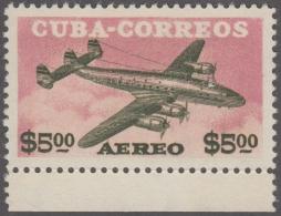 1955-271 CUBA REPUBLICA. 1955. Ed.630. 5 PESOS CONSTELLATION AVION MH. - Cuba