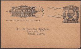 1904-EP-115 CUBA POSTAL STATIONERY. 1904. 1c MARTI. Ed.70. 1951 ADVERTISING CARTELES MAGAZINE. DARK CARBOARD. - Cuba