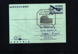Austria / Oesterreich 1983 Aerogramme Flight Wien-Rome - Premiers Vols AUA