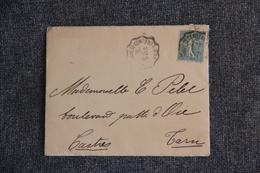 Lettre De VILLEFRANCHE DE CONFLENT  Vers CASTRES - SEMEUSE LIGNEE 15 C VERT OLIVE - Poststempel (Briefe)