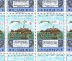 Mozambique 1972 Part Sheet Of Os Luciadas Mozambique Island 4 Esc Stamps MNH - Mozambique