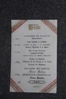 Menu Daté Au Verso Du 22 Avril 1896 , Hotel CARBONELL - Menus