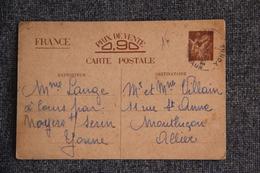 CPA Entier POSTAL - Correspondance Militaire Familiale - Guerra 1939-45