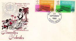 FDC NOUVELLES HEBRIDES 20.09.1966 - Inauguration Siège OMS - FDC