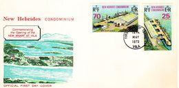 FDC NOUVELLES HEBRIDES 14.05.1973 - Nouveau Quai Public De PORT-VILA - FDC