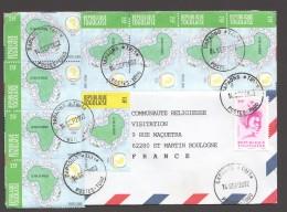 2002 Lettre Du Togo Pour La France  OUA 25fr X 8, OUA 10fr, Togolaise 240fr - Togo (1960-...)