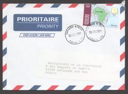 2001 Lettre Du Togo Pour La France  OUA 250fr - Togo (1960-...)