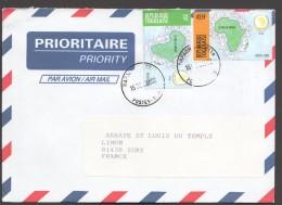 2002 Lettre Du Togo Pour La France  OUA 25fr, 425fr - Togo (1960-...)
