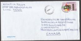 2001 Lettre Du Togo Pour  Le Canada  Senghor 650fr - Togo (1960-...)