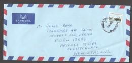 2002  Letter To New Zealand   People's Palace - Zanzibar 800/- - Tanzania (1964-...)