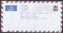 2002  Letter To New Zealand    State House 600/- - Tanzania (1964-...)