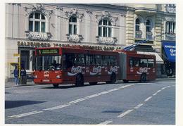 Buse Articulated Trolley Coach No. 9373 On Makartplatz  On Rt 5 Coca Cola Advertizing Salzburg, Austria - Busse & Reisebusse