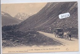 CHAMONIX-MONT-BLANC- DILIGENCE AU COL DES MONTETS- 1460 M- - Chamonix-Mont-Blanc