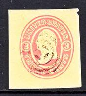US CUT  SQUARE  U 35  BUFF    (o)   1860-61  ISSUE - Postal Stationery