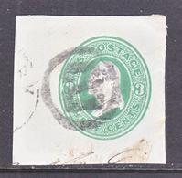 US CUT  SQUARE  U 82    (o)   1870-71  ISSUE - Postal Stationery