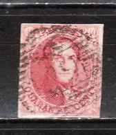 5  Médaillon Non Dentelé - Grandes Marges - Oblit. P29 COURTRAI - LOOK!!!! - 1849-1850 Medaillen (3/5)