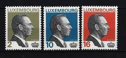 LUXEMBURG - Mi-Nr. 1357 - 1359 Freimarken: Großherzog Jean Von Luxemburg Postfrisch - Luxemburg