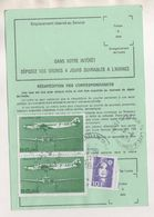 ORDRE DE REEXPEDITION MARCQ EN BAROEUL 59 NORD 1995  - POSTE AERIENNE DEWOITINE 338 ( 2 ) BRIAT ( 1 ) SOIT 110FRS - Post
